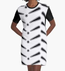 Pinball Arcade Black Graphic T-Shirt Dress