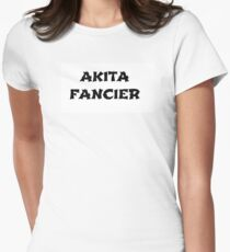 akita fancier Women's Fitted T-Shirt