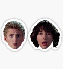 Bill and Ted's Excellent Adventure - Bill and Ted Head Stickers Sticker
