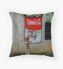 campbells soup Throw Pillow