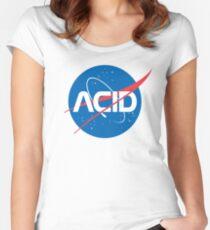 Acid vs Nasa Women's Fitted Scoop T-Shirt