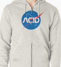 Acid vs Nasa Zipped Hoodie