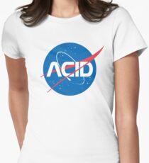 Acid vs Nasa Women's Fitted T-Shirt