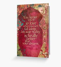 You Know You're in Love... Greeting Card