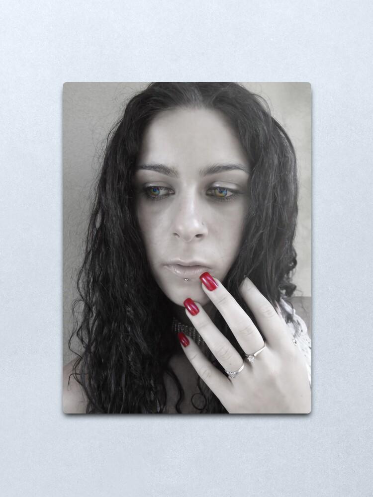 Alternate view of Red nails Metal Print