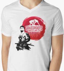 Samurai Wrestler From GrassRoots Wrestling Co. Mens V-Neck T-Shirt