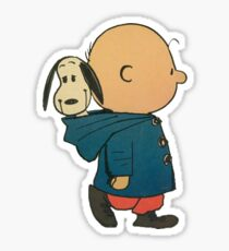 Charlie Brown and Snoopy Sticker