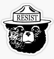Smokey Resist national park tee shirt Sticker