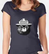 Smokey resist national park tee shirt Women's Fitted Scoop T-Shirt
