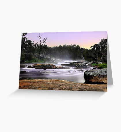 Noble Falls At Dawn Greeting Card