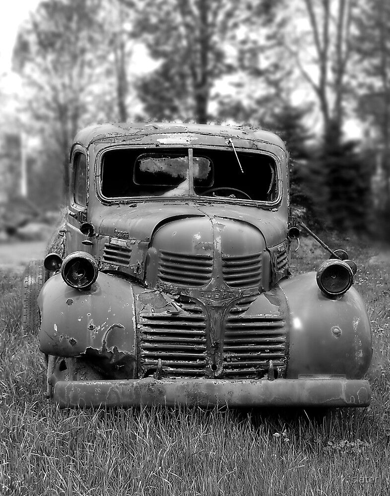 antique truck by slater