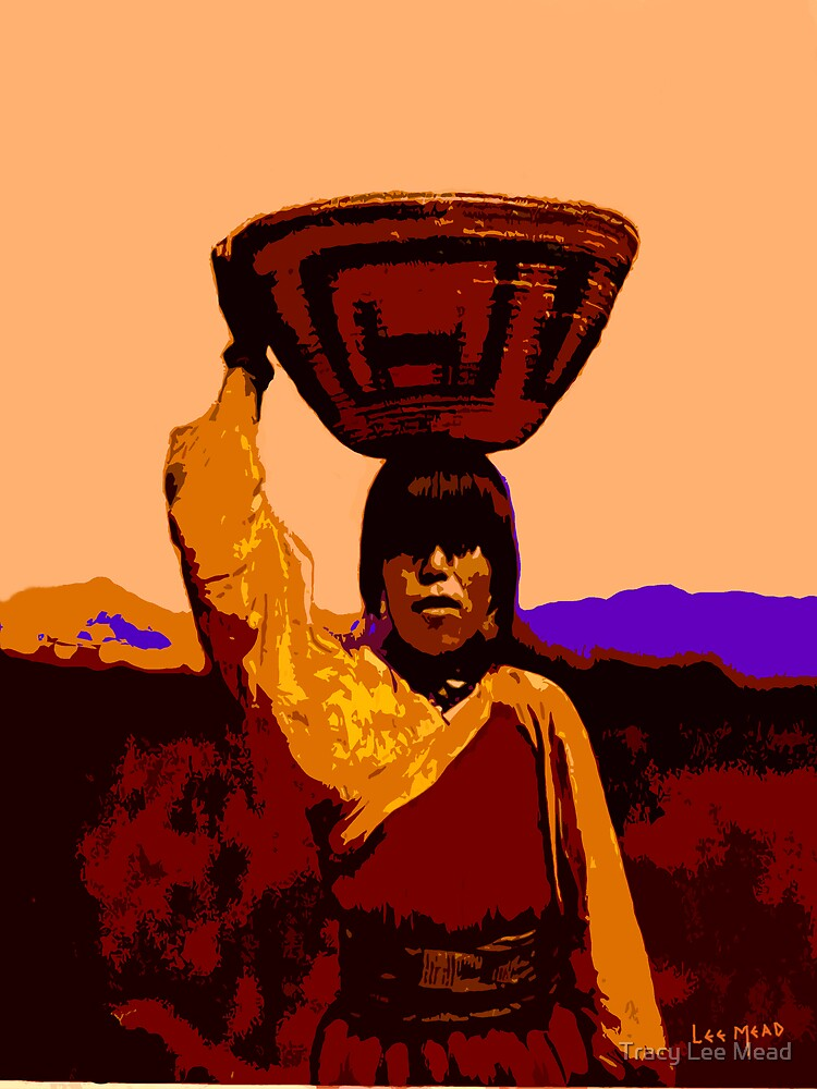 Apache Basket Lady by Tracy Lee Mead
