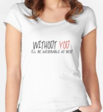 Mayday Parade - Without YOU Women's Fitted Scoop T-Shirt