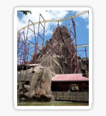 the volcano ride  Sticker