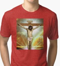 Skam - Isak, Even or Eskild Jesus T-Shirt Tri-blend T-Shirt