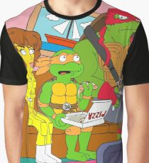 Turtle Living Room Graphic T-Shirt
