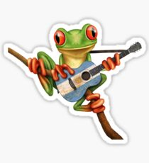 Tree Frog Playing Argentinian Guitar Sticker