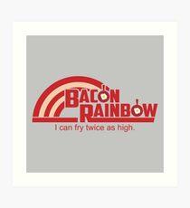 Bacon Rainbow Art Print