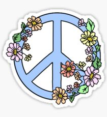 peace sign with flowers Sticker