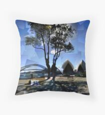 Picnic at Bennelong Point Throw Pillow