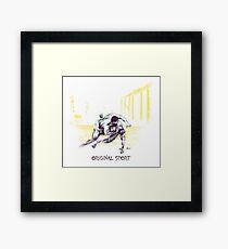 Original Sport Wrestling Art Framed Print