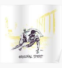 Original Sport Wrestling Art Poster