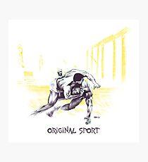 Original Sport Wrestling Art Photographic Print