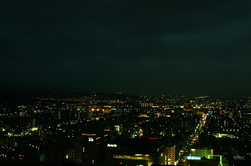 Japan - An Ariel Night in Kyoto 6 by tmac
