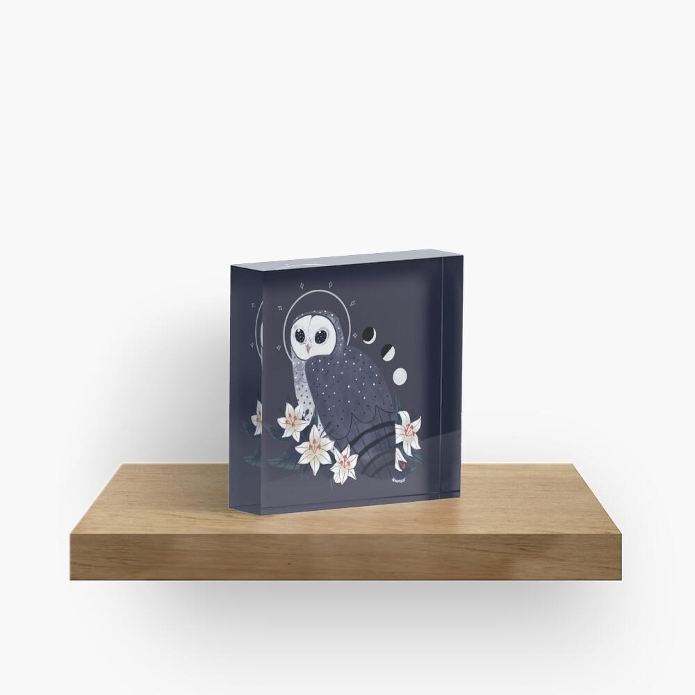 Familiar - Sooty Owl Acrylic Block
