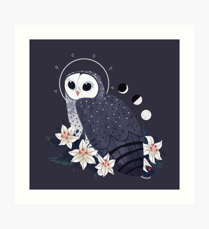 Familiar - Sooty Owl Art Print