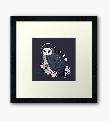 Familiar - Sooty Owl Framed Print