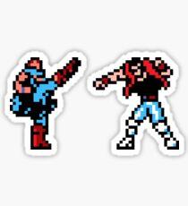 Shatterhand Vs. Kick Master NES Sticker