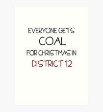 Coal for Christmas Art Print