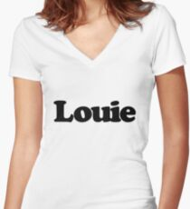 Louie Women's Fitted V-Neck T-Shirt