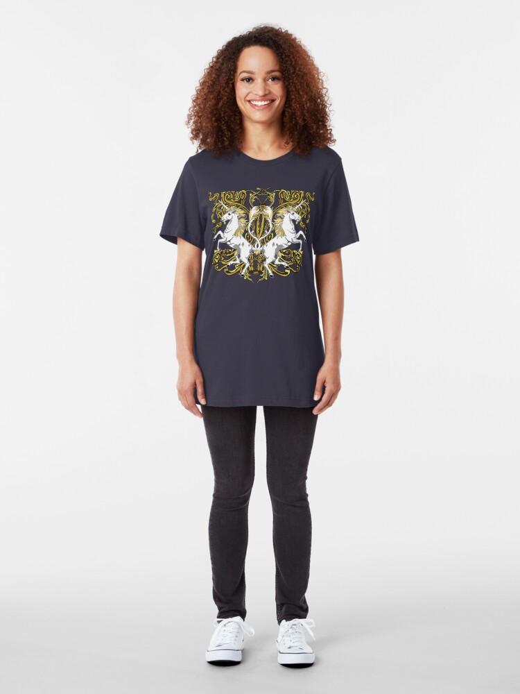 Alternate view of Imperial Unicorns II Slim Fit T-Shirt
