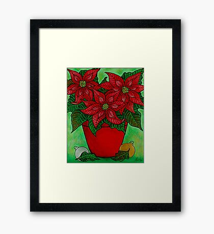 Poinsettia Season Framed Print