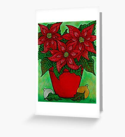 Poinsettia Season Greeting Card