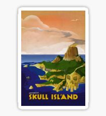 Skull Island - King Kong Retro Travel Poster Sticker