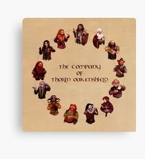 The Company of Thorin Oakenshield Canvas Print