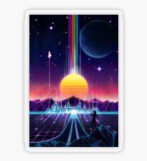 Neon Sunrise Transparent Sticker