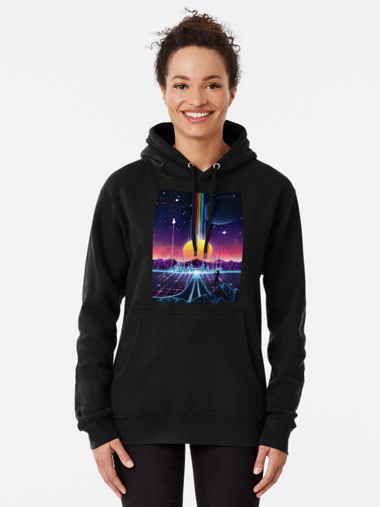 Alternate view of Neon Sunrise Pullover Hoodie