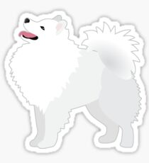 American Eskimo Dog Breed Illustration Silhouette Sticker