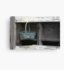 Blue Basket Canvas Print