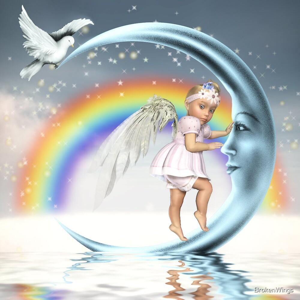 Baby Angel Moon by BrokenWings