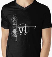 White Vervet Thirst Logo Men's V-Neck T-Shirt