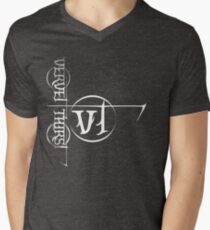 White Vervet Thirst Logo Mens V-Neck T-Shirt