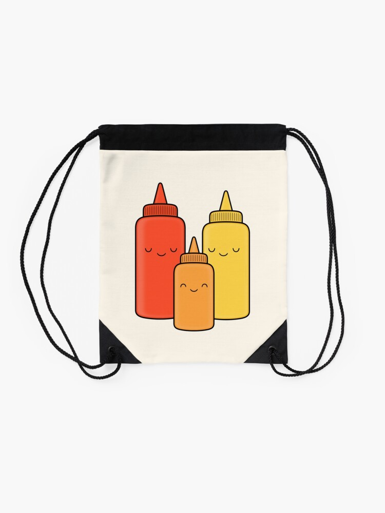 Alternate view of Ketchup & Mustard Baby Drawstring Bag