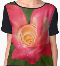 A very pink rose Chiffon Top