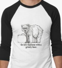 Go Into Business with a Grizzly Bear Men's Baseball ¾ T-Shirt