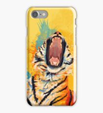 Wild Yawn - Tiger portrait iPhone Case/Skin